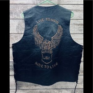 DREAM APPAREL 'LIVE TO RIDE, RIDE TO LIVE' VEST